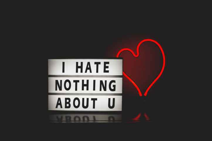 i hate nothing about you with red heart light